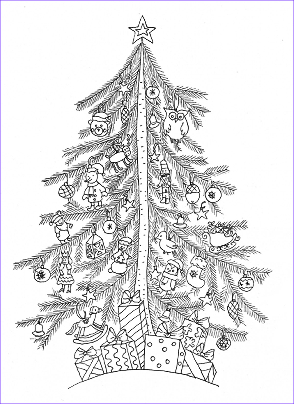 image=2016 christmas advent calendard coloring pages adults christmas tree 3