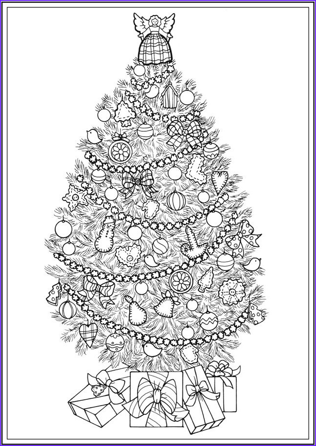 Christmas Tree Coloring Pages for Adults Beautiful Photos Creative Haven Christmas Trees Coloring Book by Barbara