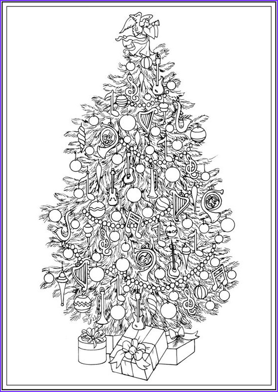 Christmas Tree Coloring Pages for Adults Beautiful Photos Dover Publications Dovers and Christmas Trees On Pinterest