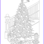 Christmas Tree Coloring Pages For Adults Best Of Collection Free Printable Adult Coloring Pages