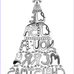 Christmas Tree Coloring Pages For Adults Cool Collection Merry Christmas Adult Tree Coloring Pages Printable
