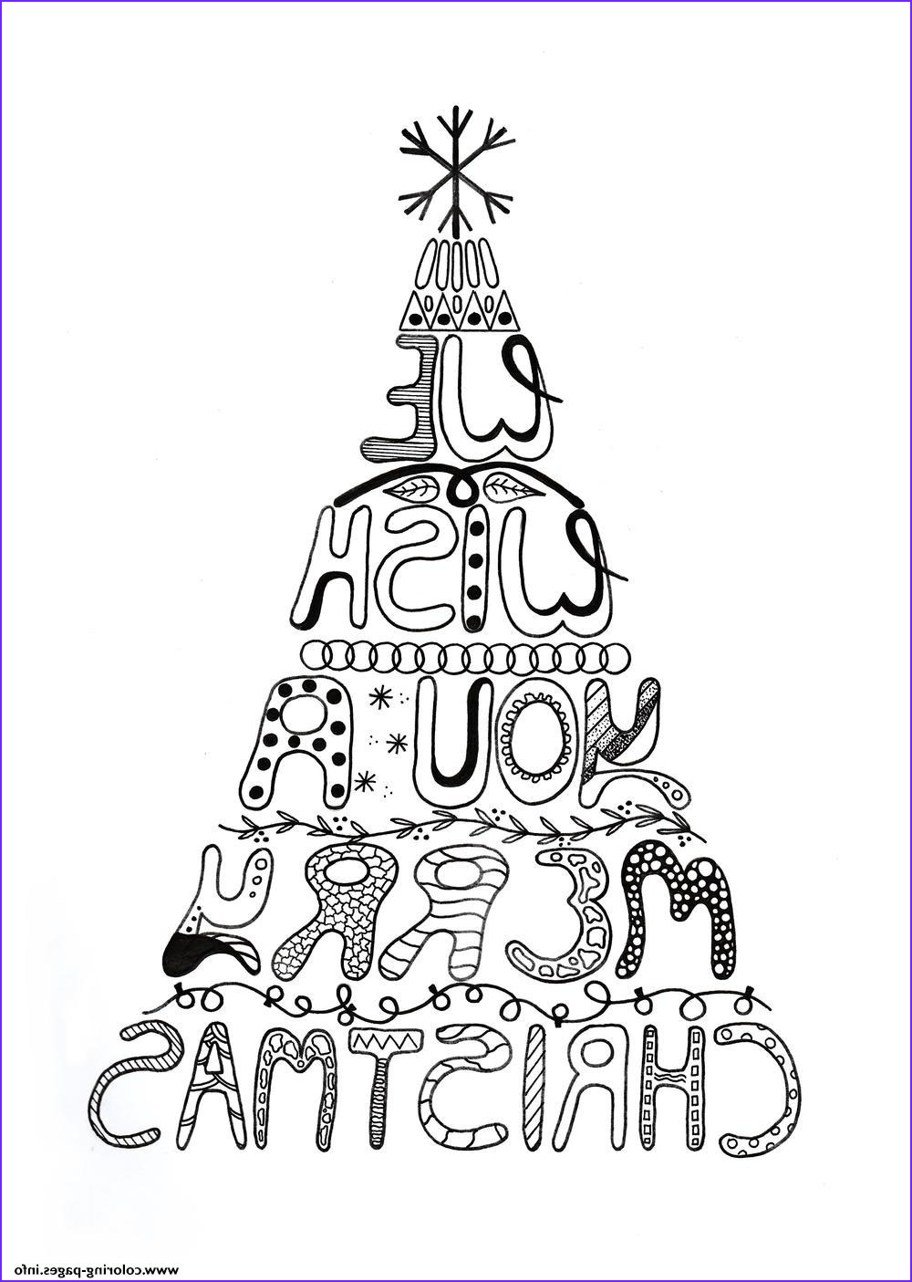 merry christmas adult tree printable coloring pages book