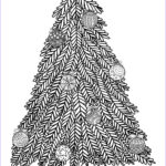 Christmas Tree Coloring Pages For Adults Cool Image Christmas Tree With Ball Ornaments Christmas Adult