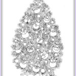 Christmas Tree Coloring Pages For Adults Inspirational Collection Creative Haven Christmas Trees Coloring Book Dover