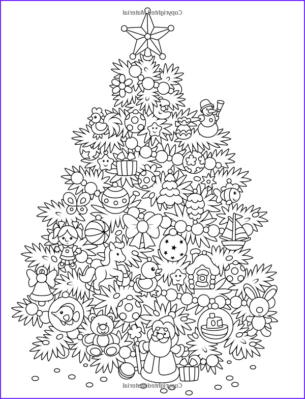 Christmas Tree Coloring Pages for Adults Luxury Collection Adult Coloring Book Magic Christmas for Relaxation