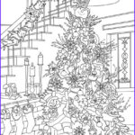 Christmas Tree Coloring Pages For Adults Luxury Photography Cats And Dogs Christmas Tree Printable Adult Coloring