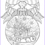 Christmas Tree Coloring Pages For Adults New Stock Christmas Coloring Anti Stress Therapy 19