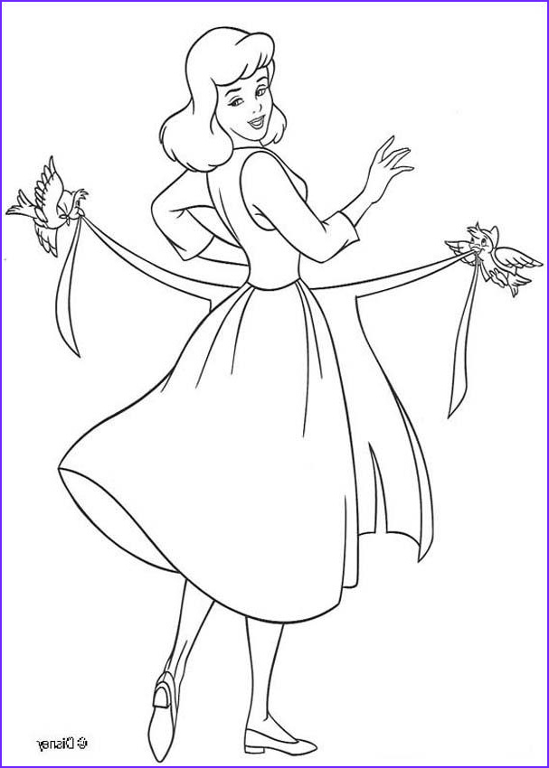 Cinderella Coloring Pages Luxury Photos Cinderella Dressing Up Coloring Pages Hellokids