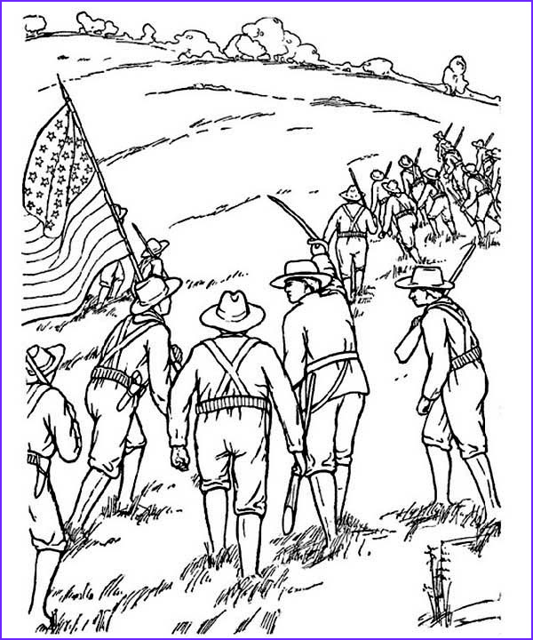 revolutionary war battle coloring pages sketch templates