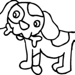 Clip Art Coloring Pages Inspirational Photos Coloring Page Of Dog With Bone Free Clip Art