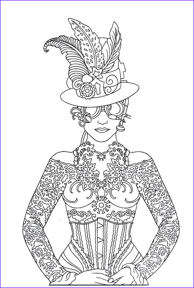 Color Art Coloring Books Luxury Images Steampunk Printable Coloring Book Page Easy to Medium