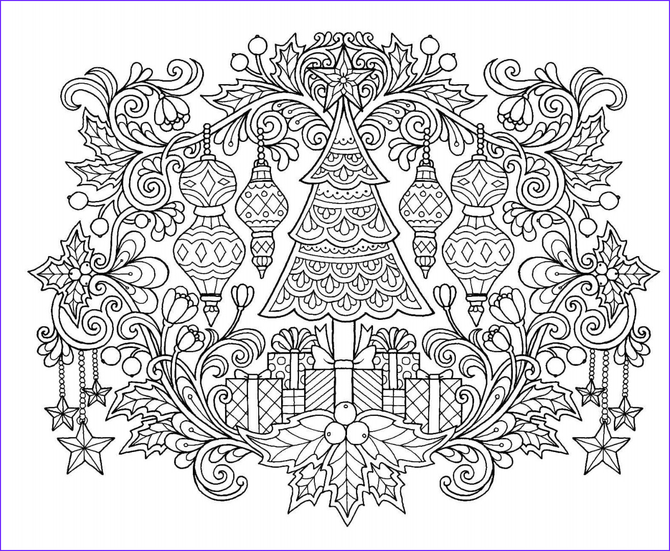 Color It Coloring Books Beautiful Photos 12 Christmas Drawing Download Ty