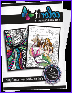 Color It Coloring Books Cool Images Adult Coloring Books with Hardback Covers & Artist Paper