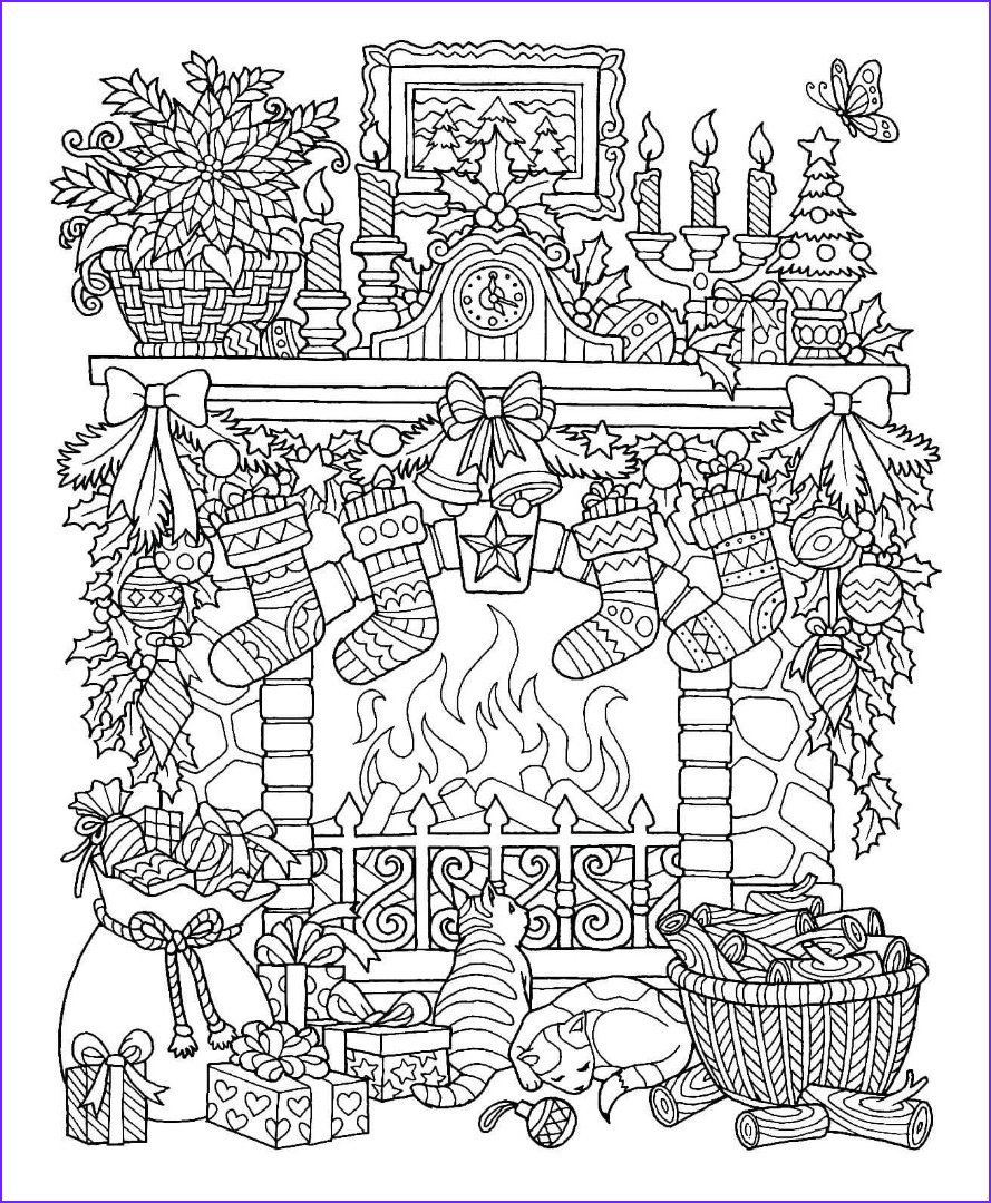 Color It Coloring Books Elegant Stock 4th Christmas Drawing
