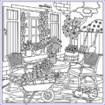 Color Therapy Coloring Pages Beautiful Photography Garden