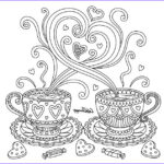 Color Therapy Coloring Pages Cool Photos Coffee Love Coloring Page