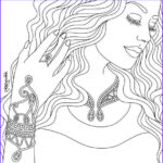 Color Therapy Coloring Pages Unique Collection Pretty Lady