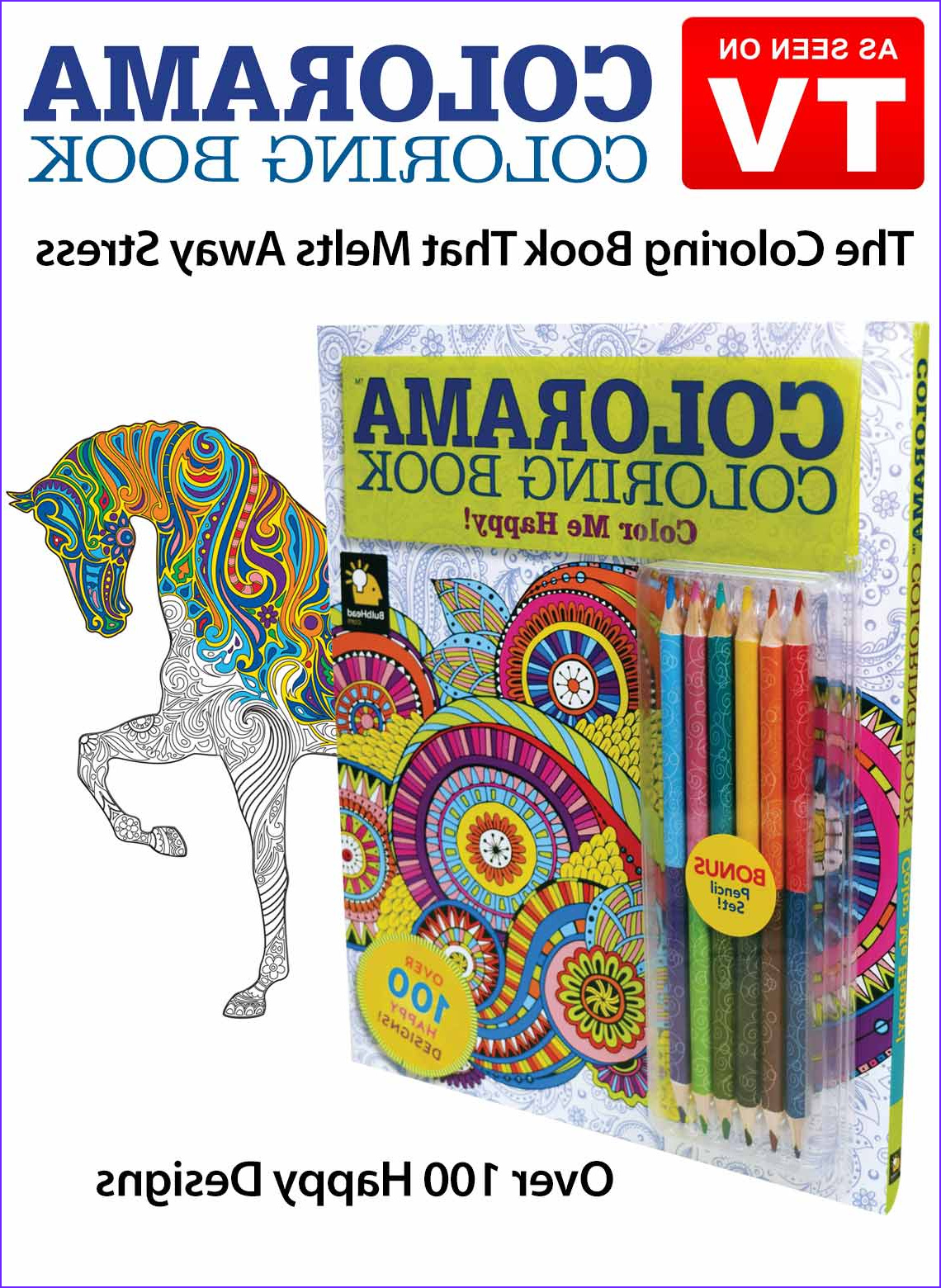 Colorama Coloring Books Beautiful Photos Colorama Color Me Happy Book as Seen On Tv