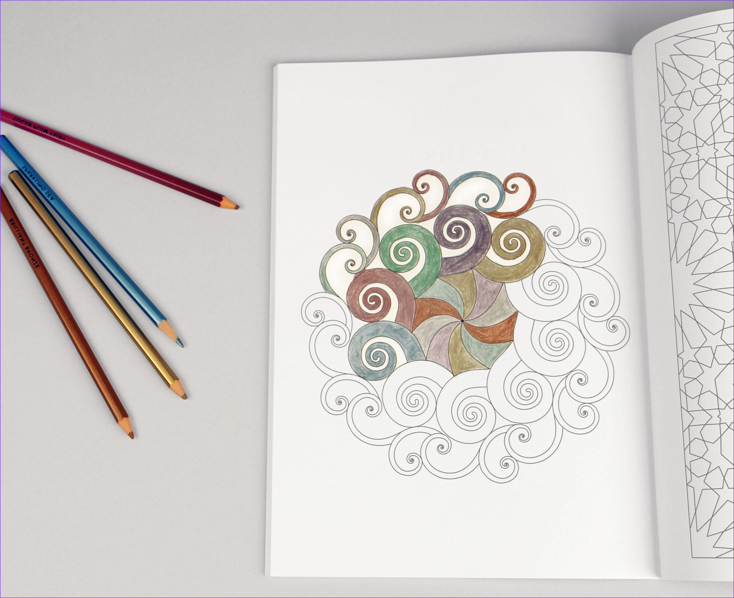 Coloring 4 Cool Collection Modern Meditation Coloring Book with Bright Ideas Metallic
