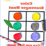 Coloring Activities For Toddlers Luxury Photos Color Scavenger Hunt For Preschoolers And Toddlers
