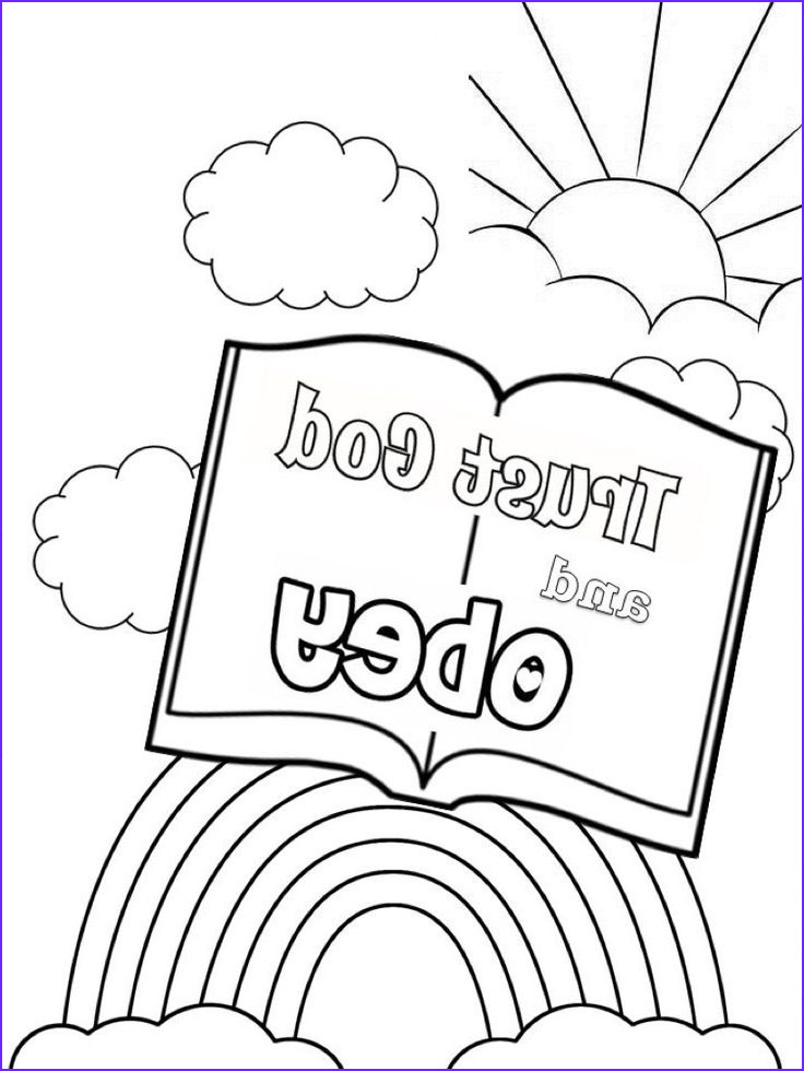 Coloring Activity Beautiful Photos Trust and Obey Coloring Page