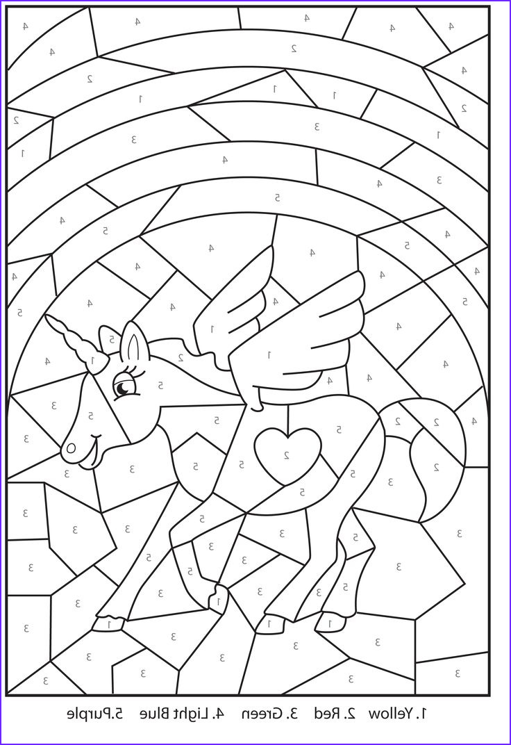 Coloring Activity Best Of Photos Free Printable Magical Unicorn Colour by Numbers Activity
