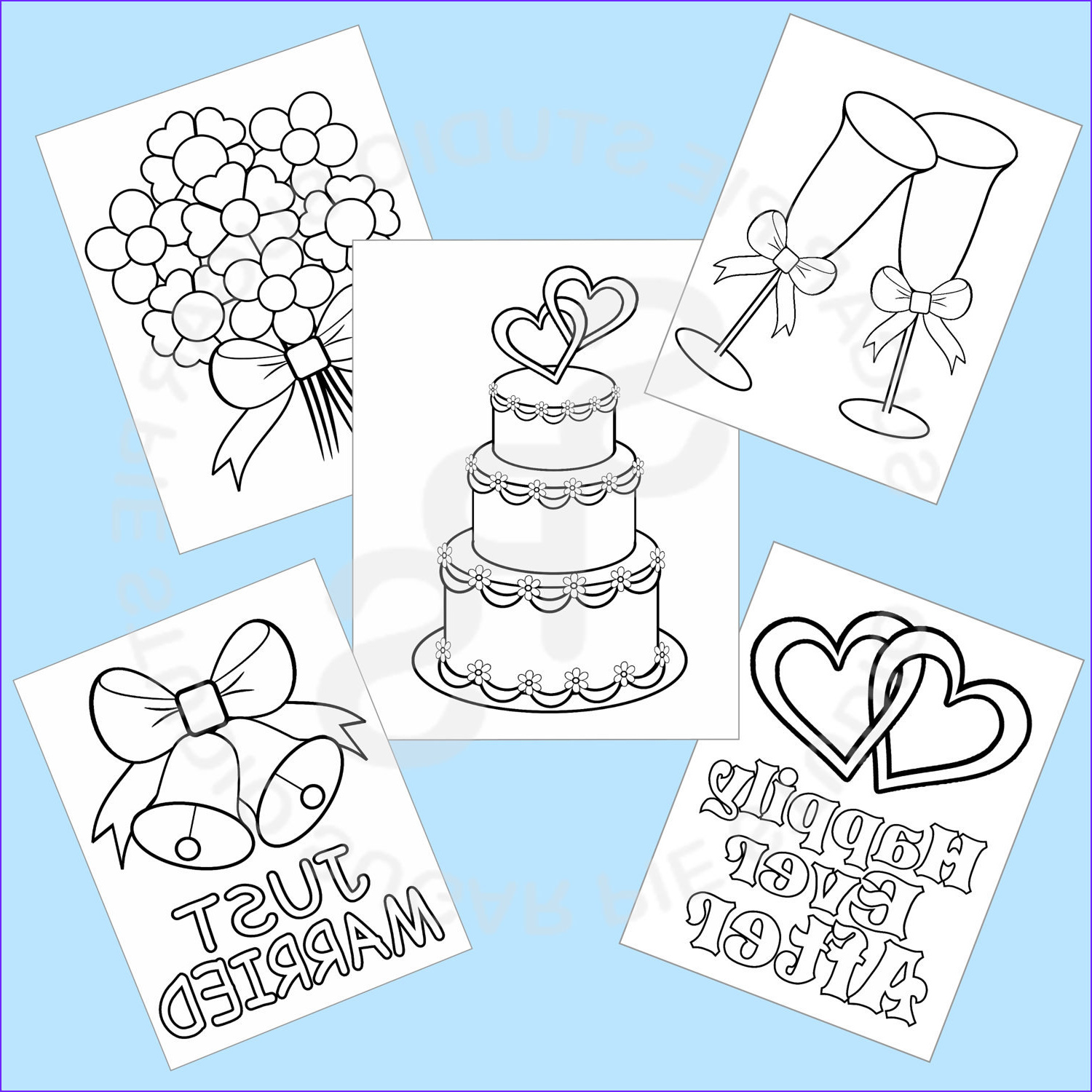 Coloring Activity Elegant Photos 5 Printable Wedding Favor Kids Coloring Pages by