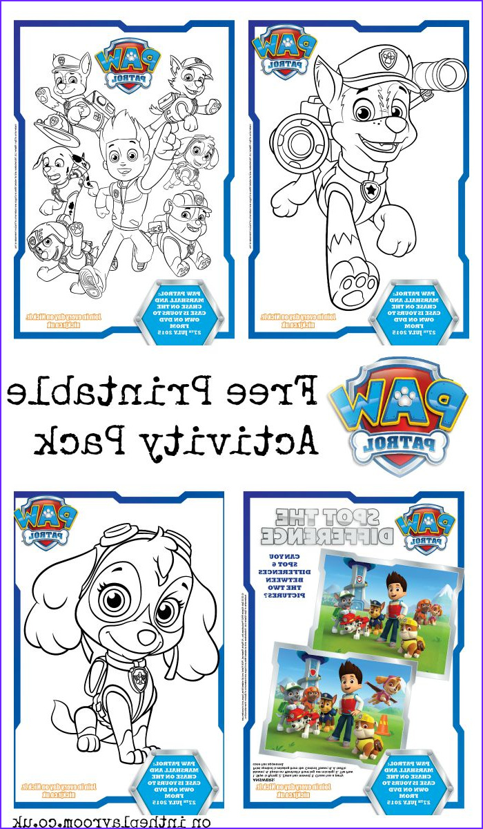 Coloring Activity New Gallery Paw Patrol Colouring Pages and Activity Sheets In the
