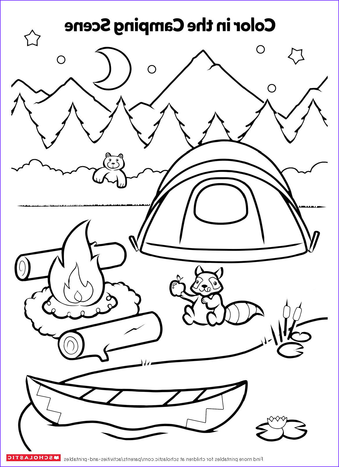 Coloring Activity New Photos Campfire Coloring Activity