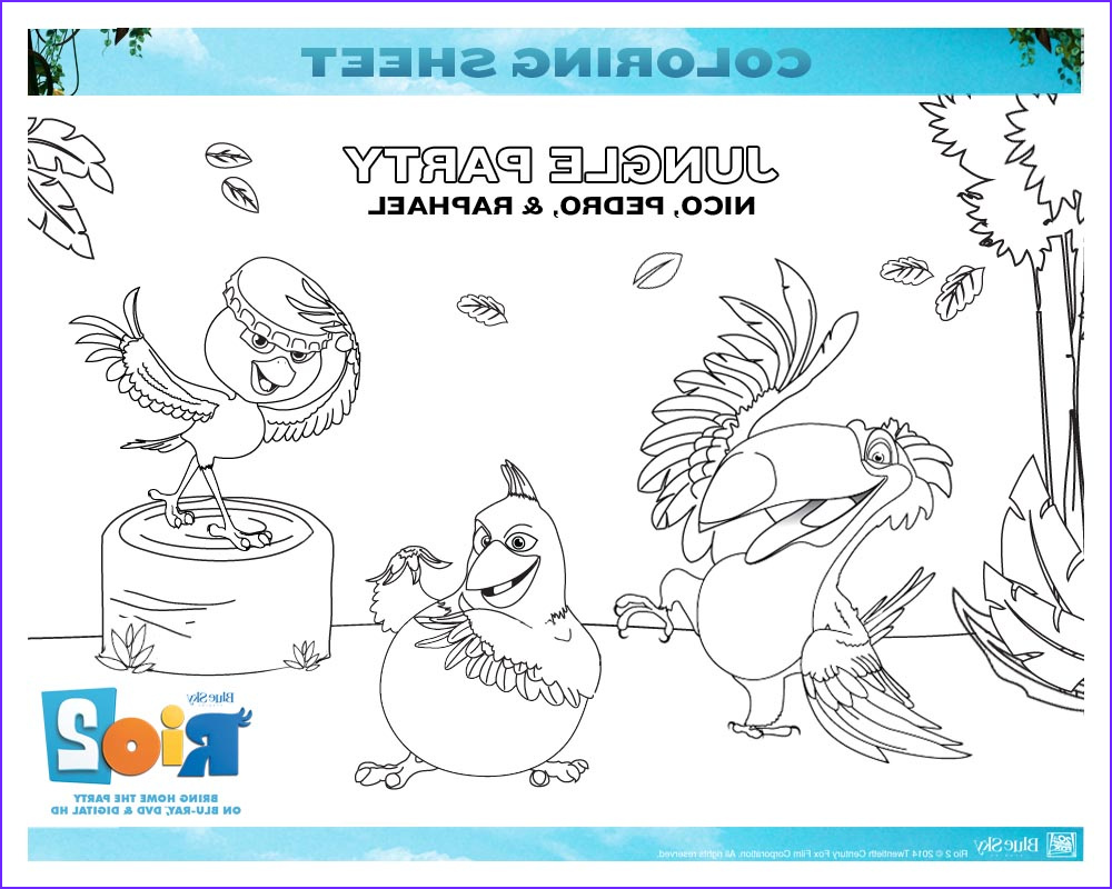 Coloring Activity Unique Image Free Rio 2 Coloring Pages