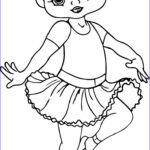 Coloring Awesome Gallery Ballerina Cartoon Girl Coloring Page
