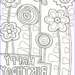 Coloring Birthday Cards Awesome Photos Birthday Coloring Pages Doodle Art Alley