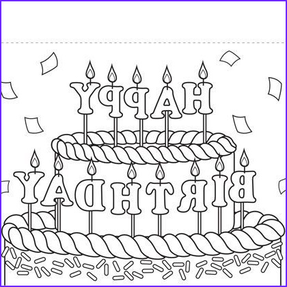 Coloring Birthday Cards Inspirational Images Print Out Coloring Birthday Cards