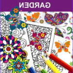 Coloring Book Barnes And Noble Inspirational Collection The Butterfly Garden Adult Coloring Book By Anti Stress