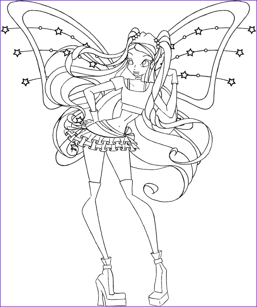 Coloring Book Clubs Beautiful Photos Free Printable Winx Club Coloring Pages for Kids