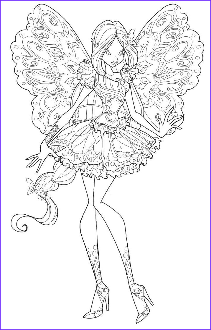 Coloring Book Clubs New Images Winx butterflix Coloring Pages to and Print for Free