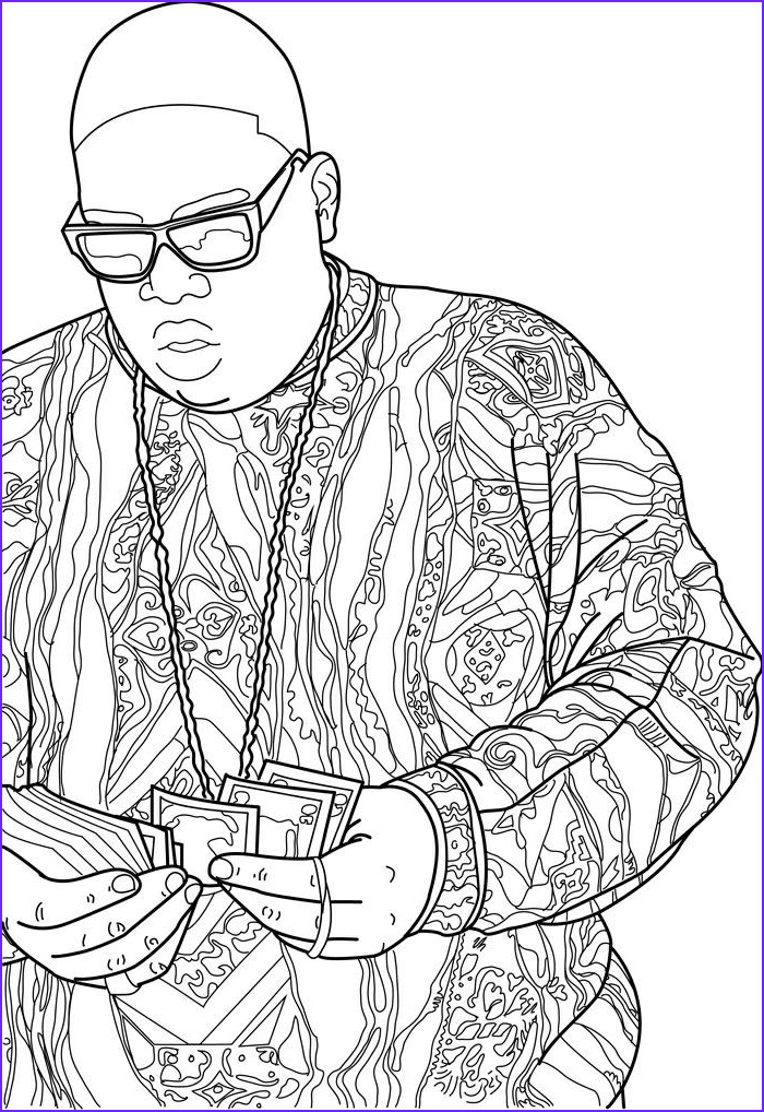 Coloring Book Drawings Awesome Collection The Notorious B I G Tattoo