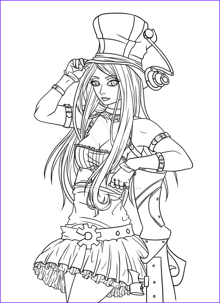 Coloring Book Drawings Awesome Stock League Of Legends Caitlyn By Fallingillusionviantart