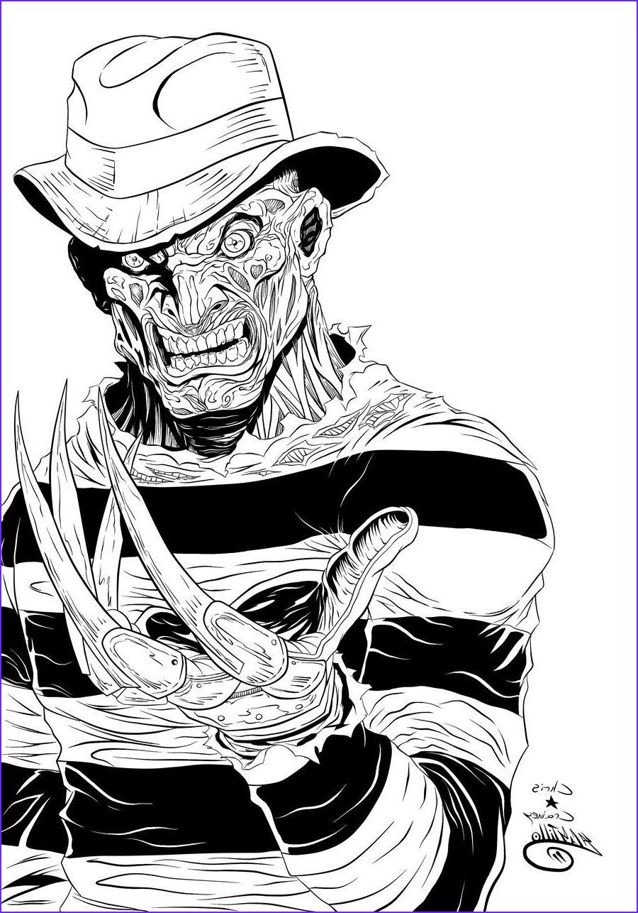 Coloring Book Drawings Beautiful Images Freddy Kruger Ink By Swave18 On Deviantart In 2019