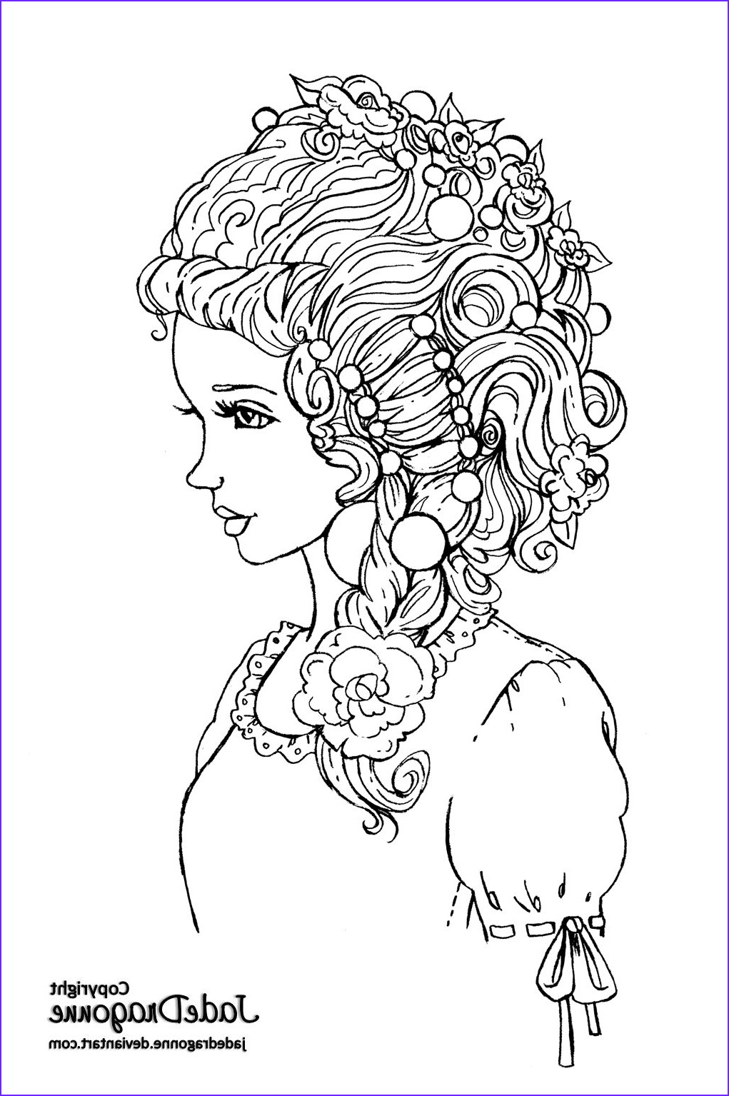 Lineart Realistic and Highly Detailed