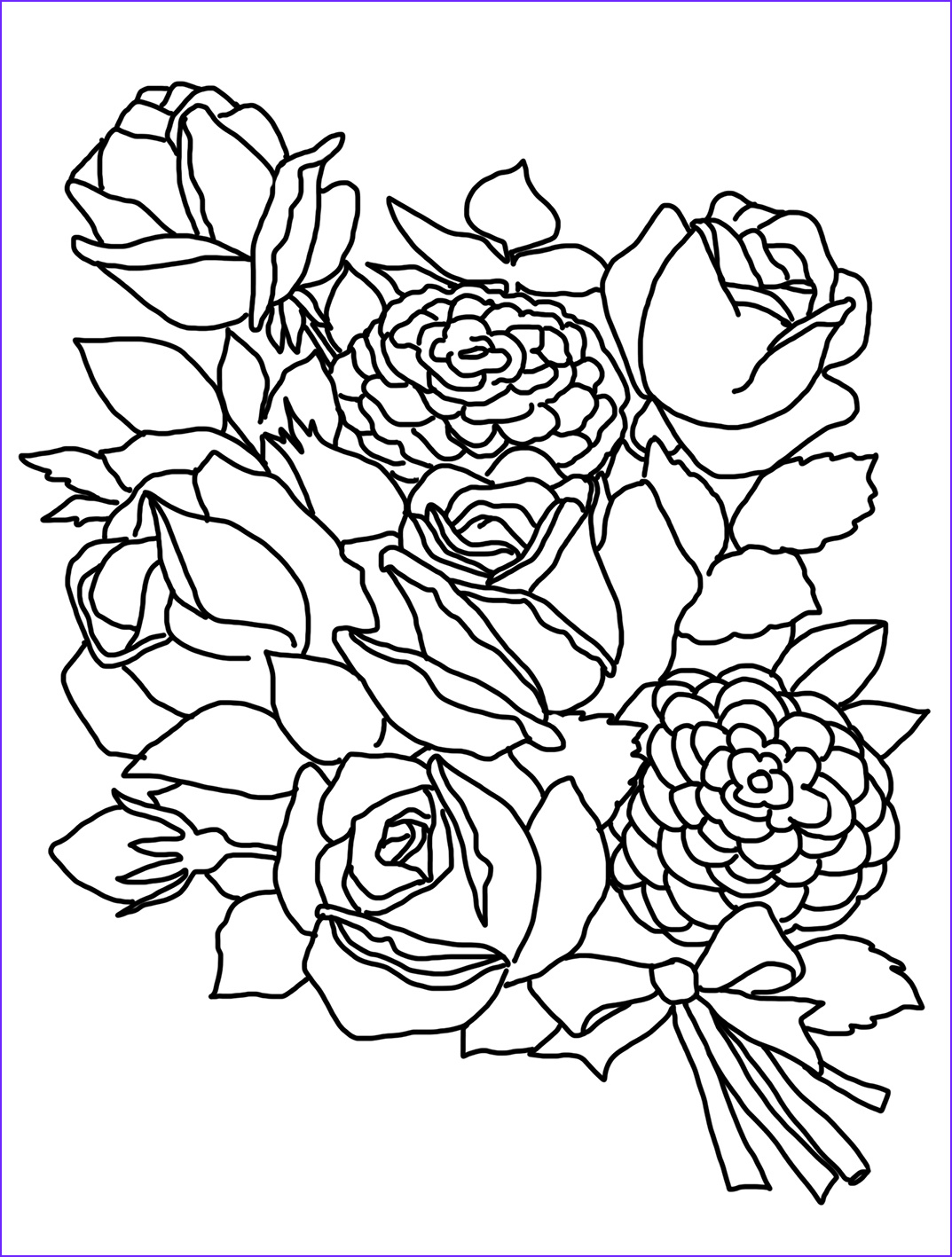 Coloring Book Flowers Cool Images Flower Coloring Pages