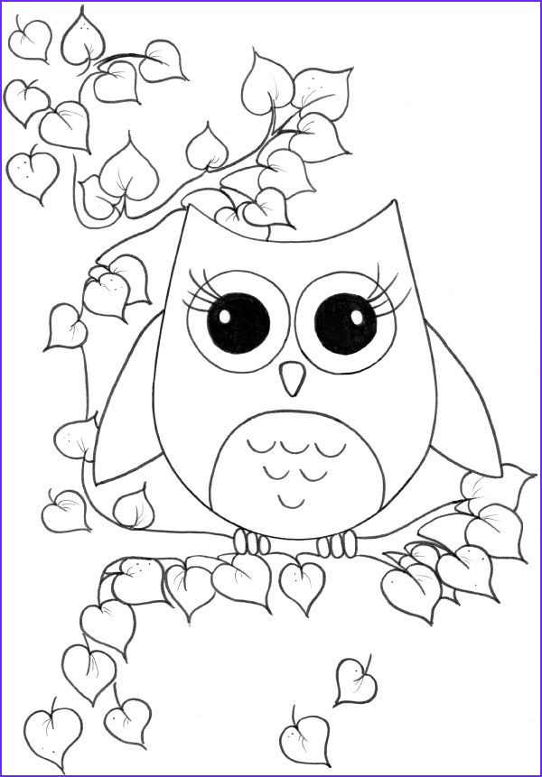 Coloring Book Owl Cool Gallery Cute Owl Coloring Page