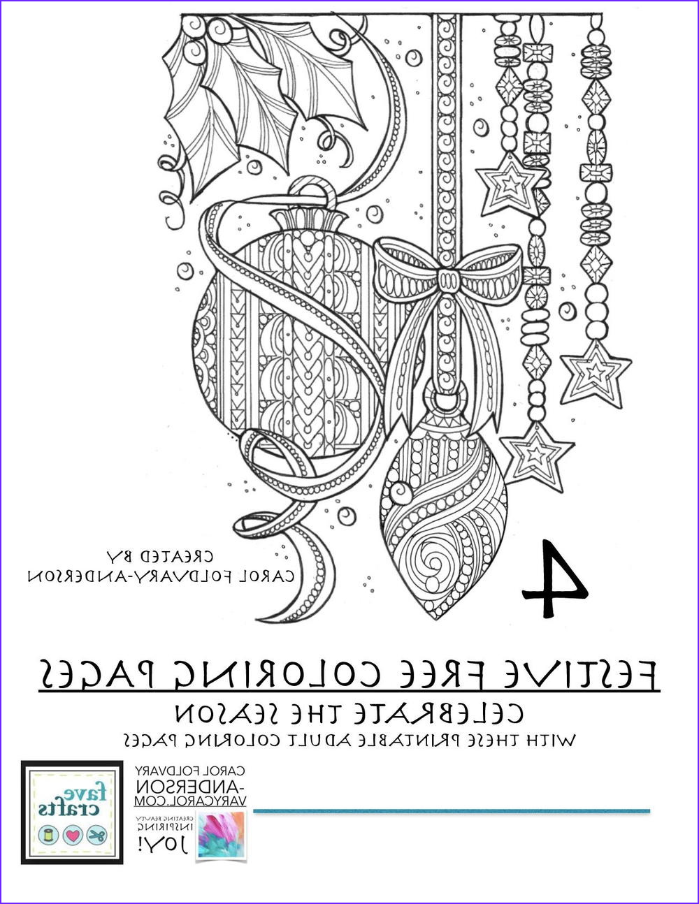 Coloring Book Pdf Best Of Photos 4 Festive & Free Holiday Coloring Pages for Adults [pdf