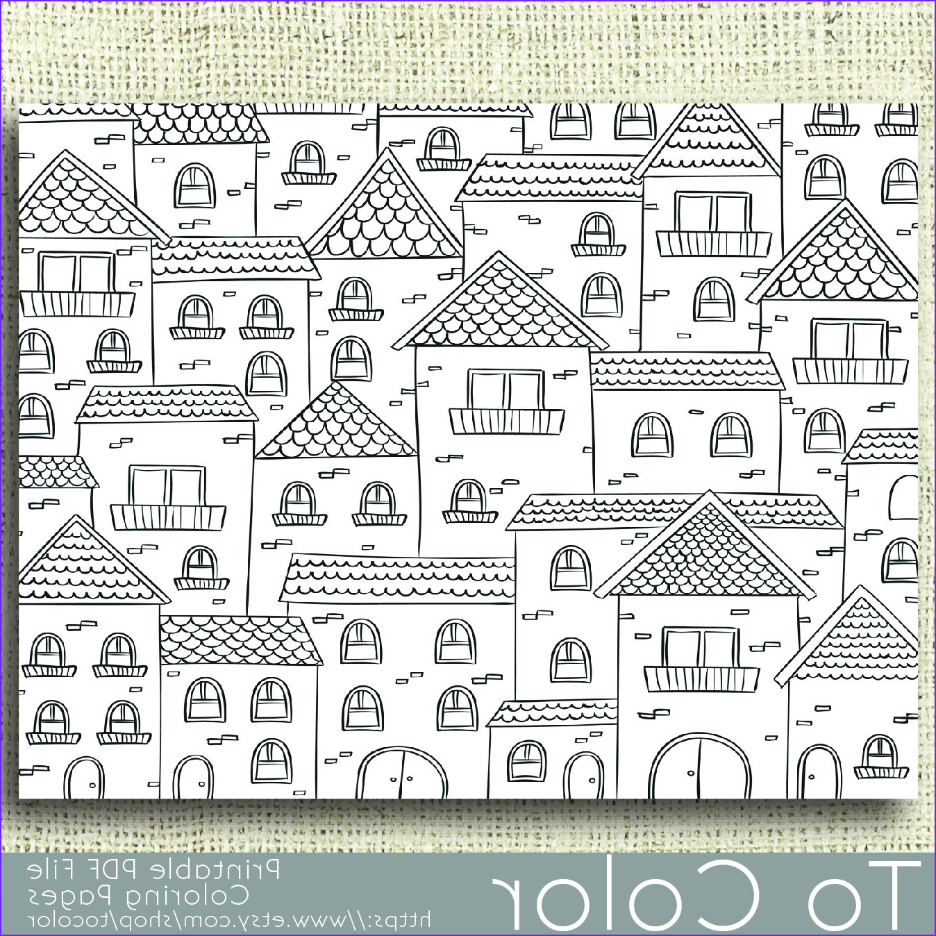 Coloring Book Pdf Elegant Collection Printable Houses Coloring Page for Adults Pdf Jpg Instant