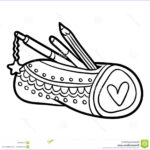 Coloring Book Pencil Beautiful Collection Coloring Book Pencil Case Stock Vector Illustration Of
