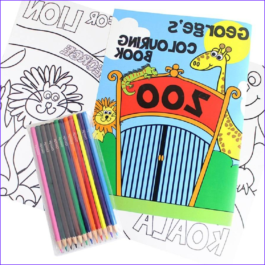 Coloring Book Pencil Cool Photography Personalised Colouring Books with Colouring Pencils Set by
