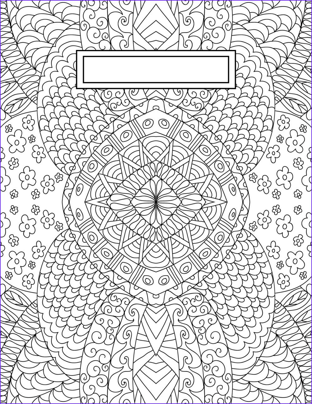 Coloring Books Beautiful Collection Back to School Binder Cover Adult Coloring Pages