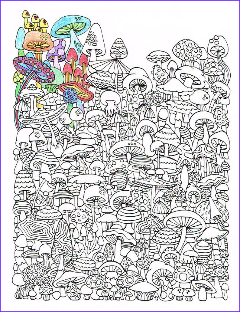 Coloring Books for Adults Awesome Image Adult Coloring Page Mushrooms Printable Coloring Page for