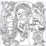 Coloring Books for Teens Beautiful Gallery Girl with A Camera Coloring Page