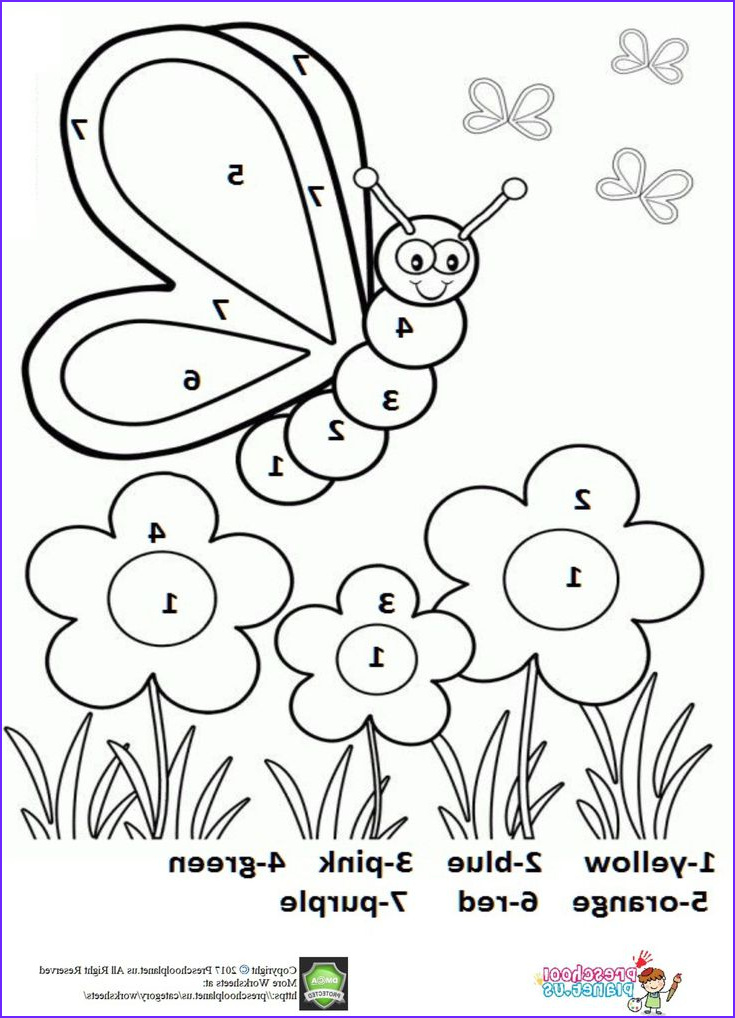 Coloring by Numbers Awesome Gallery Color by Number Spring Worksheet for Kids